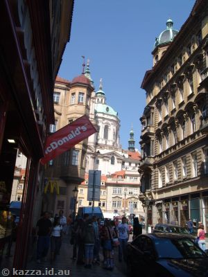 This McDonald's seemed strangely out of place in such a pretty city as Prague