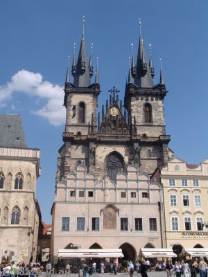 Týn Cathedral and buildings in the Old Town Square