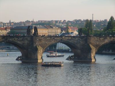 Charles Bridge in the early evening