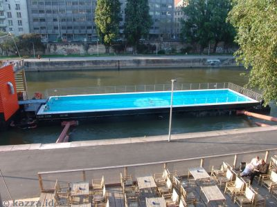 This was a bit of a spinout - a swimming pool set in the canal!