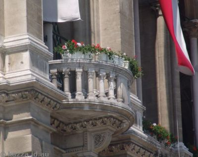 I loved all the flowers decorating all the balconies and windows