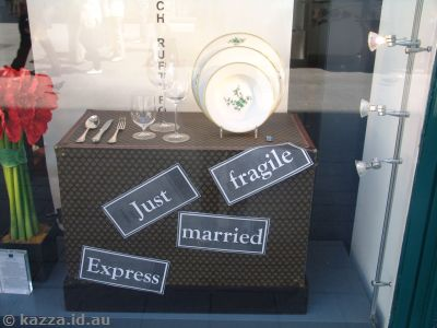 We quite liked this Just Married box near our hotel on Seilergasse