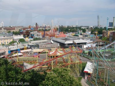 View of the Prater amusement park