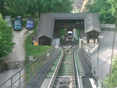 Going up the funicular to the fortress