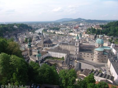 View over Salzburg from the fortress