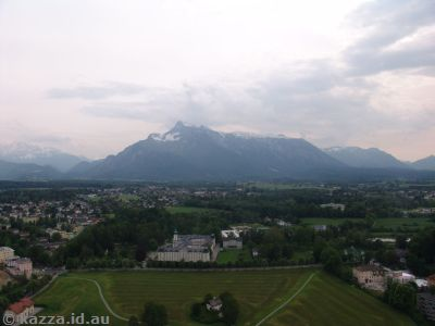 View out to Untersberg