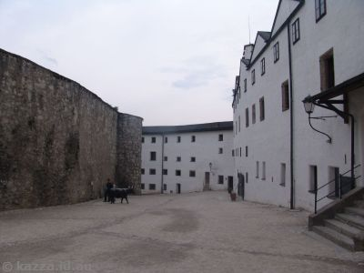 Interior walls of the fortress