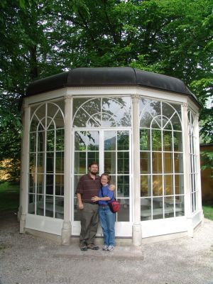 Us in front of the gazebo
