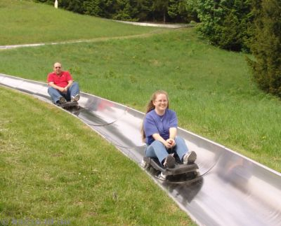 Me coming down the toboggan
