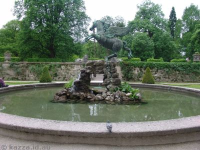 Pegasus fountain in Mirabell Palace Gardens