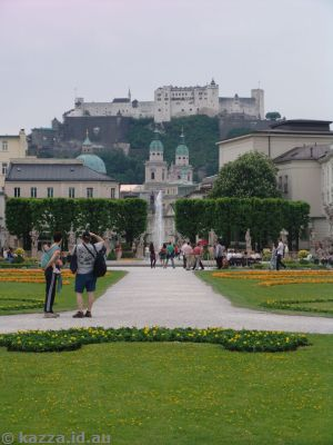 Mirabell Gardens and fortress