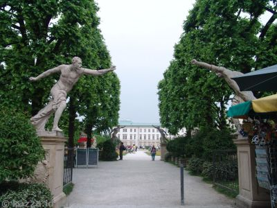 Statues at the southern end of the gardens