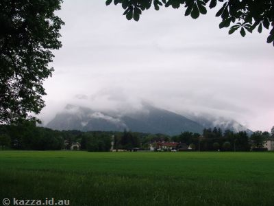 The cause of my depression for the day - a cloud-topped Untersberg