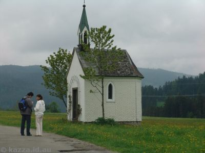 Teeny tiny little church in the village of Ödenbach