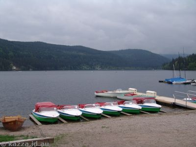 Boats for hire by Titisee
