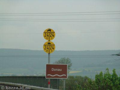 Crossing the Danube near Pfohren