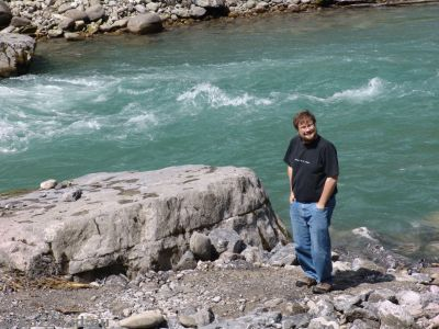 Stu by the Bregenzer Ache river a kilometre north of Au in Austria
