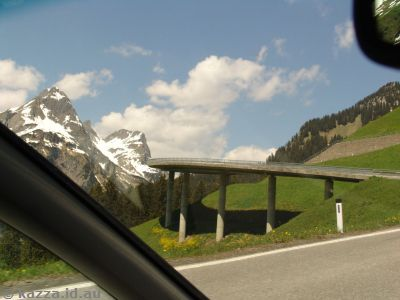 Elevated road just up from Schröcken