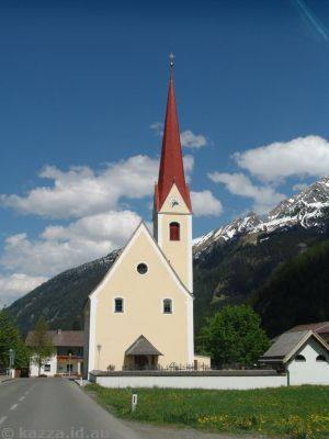 Church in Stockach, coming down the Lech valley
