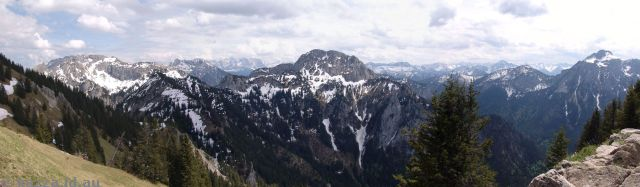 German and Austrian Alps from Tegelberg