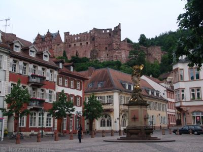 Heidelberger Schloss from the old town square