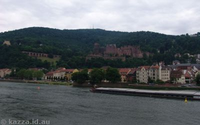 Heidelberger Schloss from the Old Bridge