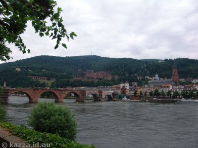 Heidelberger Schloss, Old Bridge and Neckar River