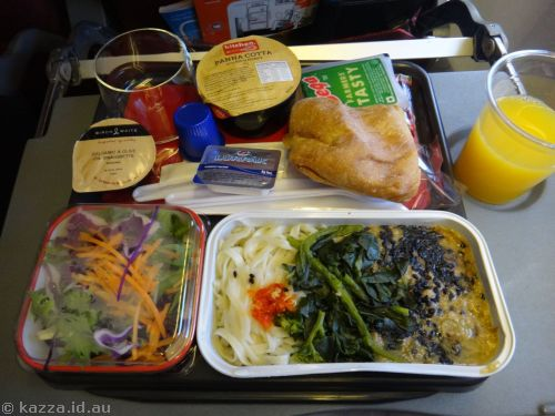 Lunch on the plane - Stir Fried Pork in Sesame and Noodles