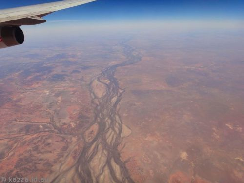 The Thomson River, Queensland, with Longreach way off in the distance