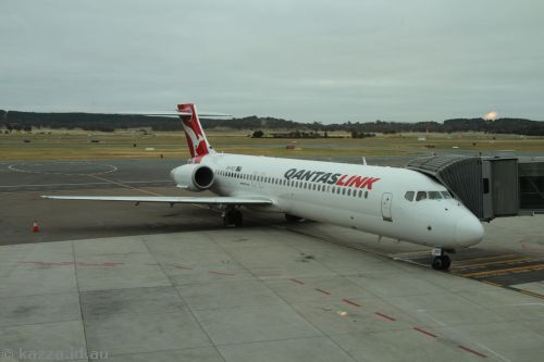 Our first plane - a Boeing 717-200 - VH-YQT