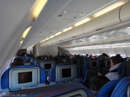 The interior of the A330