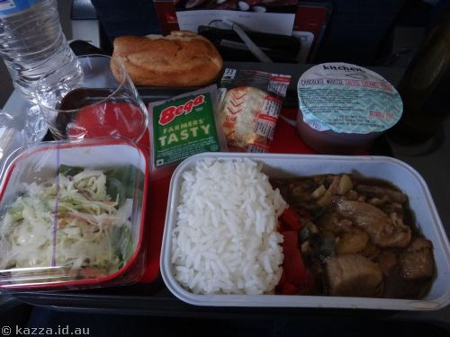 Lunch on the plane