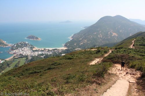 Starting to head back down.  We're on our way down there to Shek O