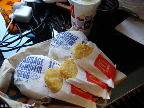 Maccas breakfast