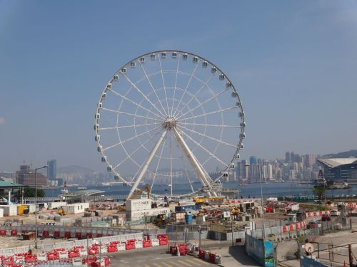 The Hong Kong Observation Wheel - not quite open yet