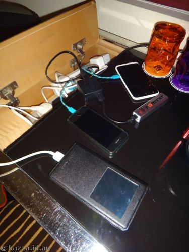 Charging station - three phones and a battery
