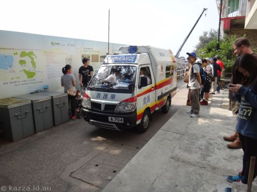 The only vehicles on Lamma Island are emergency vehicles