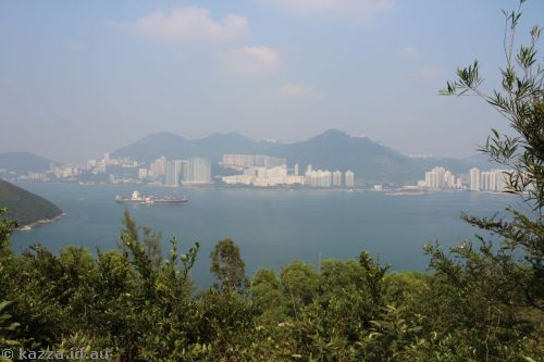 View of Hong Kong from the top of Lamma Island