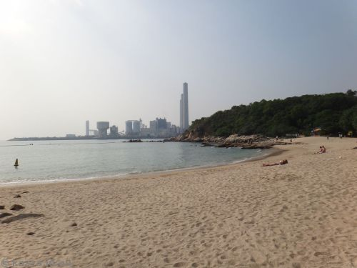 Hung Shing Ye beach - with a lovely view of the power station