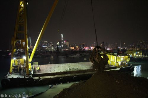 Dredging works in Causeway Bay