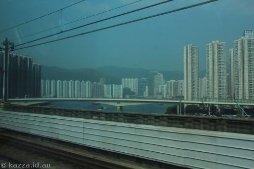 Hong Kong from the Airport train