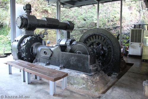 Air compressor used in the mine