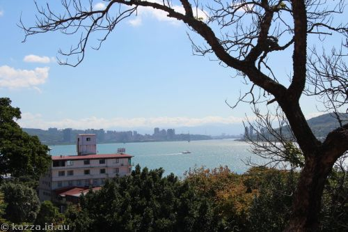 View of Tamsui River from the fort