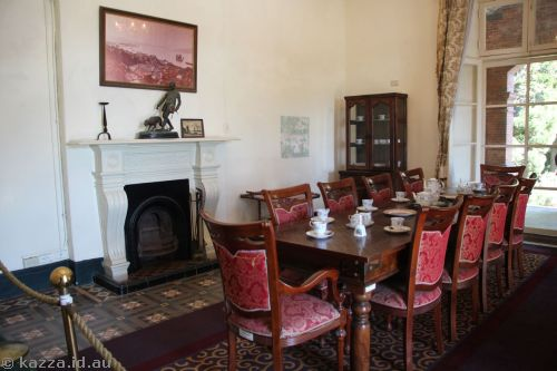 Dining room in the consulate
