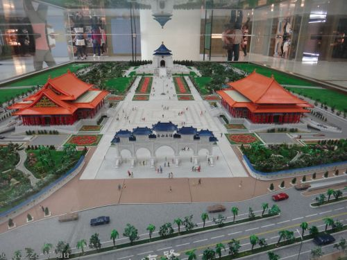 Model of Chiang Kai-Shek Memorial Hall and surrounds