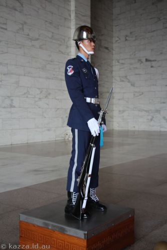 Guard in Chiang Kai-Shek Memorial Hall