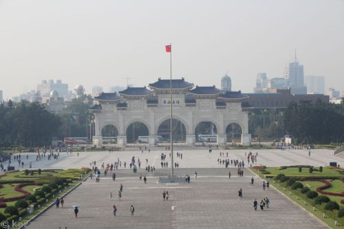 Freedom Square Memorial Arch from Chiang Kai-Shek Memorial Hall