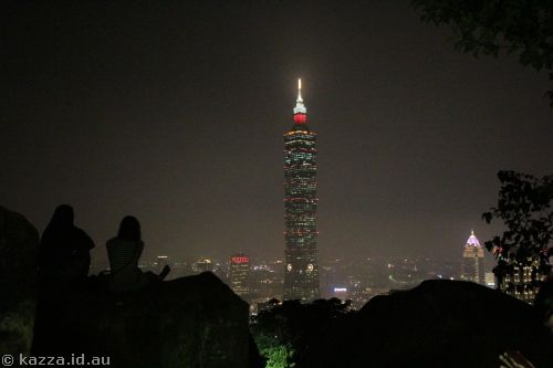 Taipei 101 from Xiangshan by night