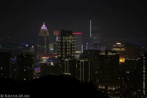 Taipei from Xiangshan by night