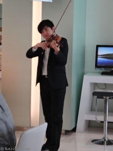 The Ambience Hotel sometimes had *ambience* in the form of a violinist playing during breakfast!
